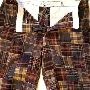 Men's casual plaid shorts